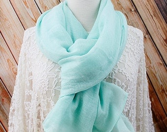 Mint Color Long Scarf .