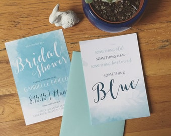 Something Blue Bridal Shower Invite! Customizable!!!
