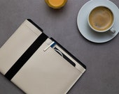 Pearl White iPad CASE, iPad Pro 9.7 Case, iPad Air Sleeve, iPad 12.9 inch Cover , Tablet Vegan Case