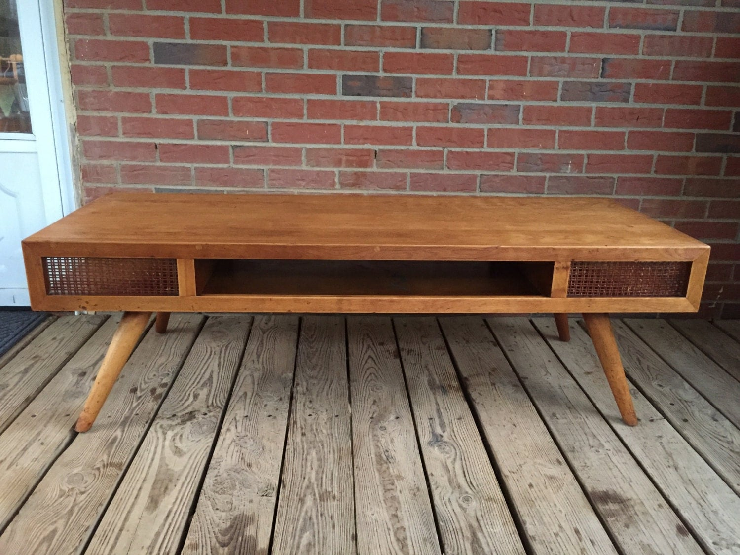 Vintage Mid Century Modern Coffee Table Russel Wright Design