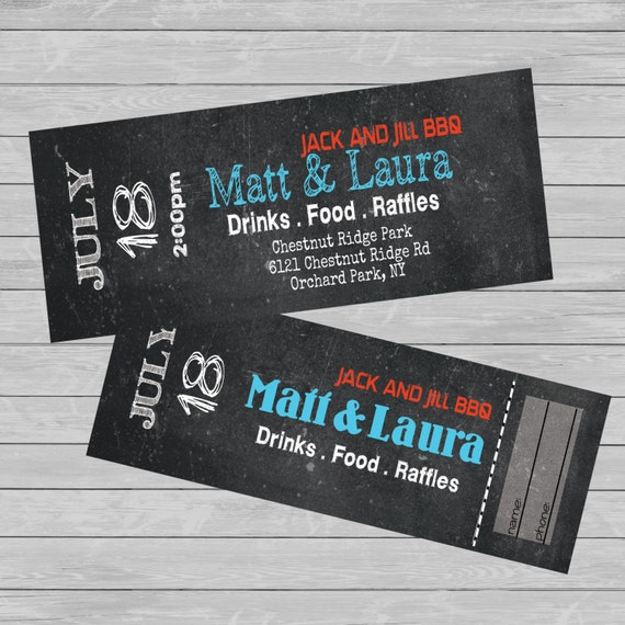 Tickets entry jack and jill stag fundraiser custom for Jack and jill ticket templates