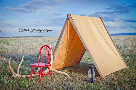 Large a frame canvas tent for children photography parties for How to build a canvas tent frame