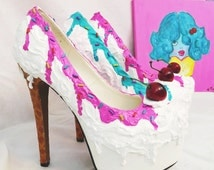 Adorable Ice Cream Sundae Inspired Stiletto Party Shoes!