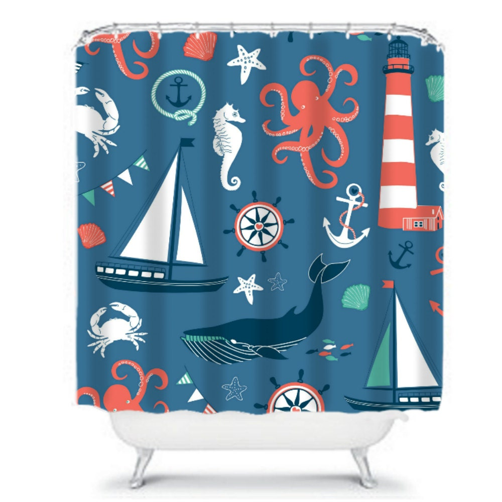 Dolphin Bay Under the Sea Shower Curtain  Collections Etc
