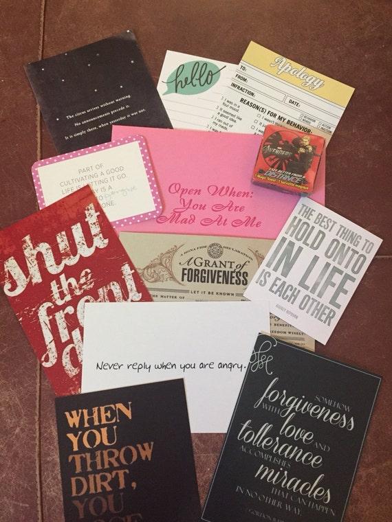 10 Open When letters  Best Friend  Gift 4 Boyfriend  For Husband