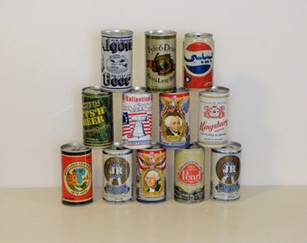 Vintage Beer Cans - 1 dozen cans - 12 cans