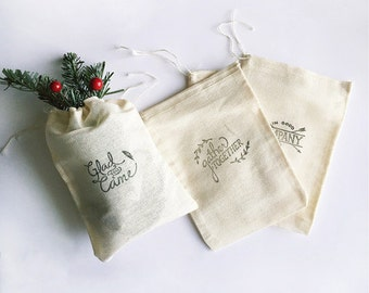 Screenprinted Muslin Bags (5 x 7)