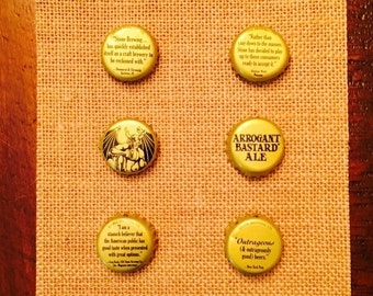 Upcycled Stone Brewing Company Bottle Cap Magnets