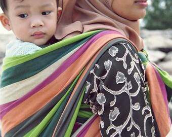 Woven Baby Wrap Sling Daiesu Bougainvillea