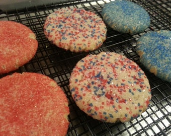 Patriotic USA 4th of July Snickerdoodle Cookies 1 Dozen Gourmet