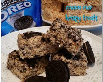 Oreo's Rice krispy treats gourmet 1 dozen Cookies & Cream