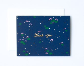 Lotus Thank You Card, Pretty Thank You Card