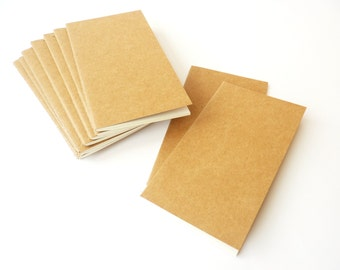 Journal or notebook in paper kraft for scrapbook 9x15