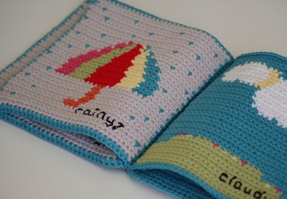 Crochet Pattern Weather Baby Book ~ Soft Book ~ Waldorf Toy ~ Quiet ...