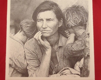 Migrant Mother, 1936 on Laser Ceramic Tile