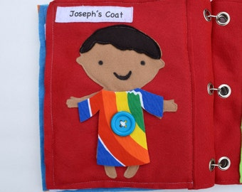 josephs coat of many colors quiet book page - Coat Of Many Colors Book