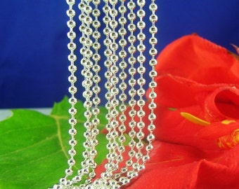 """925 Sterling Silver 1.2mm Ball Necklace Chain 18"""", 20"""", 22"""", 24"""", 28"""" 26"""" 30"""""""