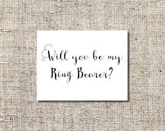 INSTANT DOWNLOAD Will You Be My Ring Bearer Printable, Will You Be My Ring Bearer Card, 5.5 x 4.25 Folded Card, WYBM#5