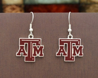 Texas A&M Aggies Epoxy Logo Earrings