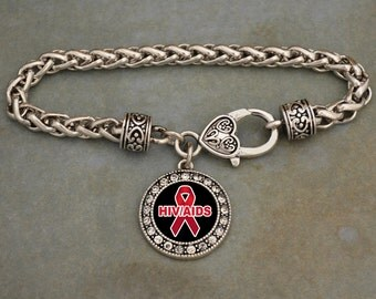 HIV AIDS Awareness Clasp Bracelet