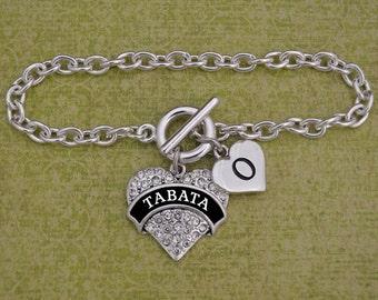Custom Initial Tabata Bracelet