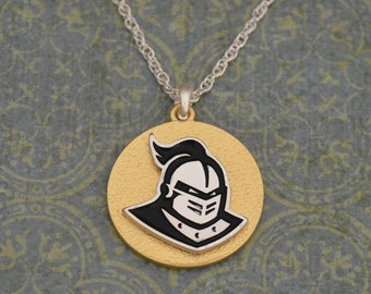 Central Florida Knights Two Tone Medallion Necklace