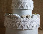 "Felt Box/Wedding Box/Jewelry Box/Home Decor:""Wedding Double Cake""(MADE 100%FELT)"
