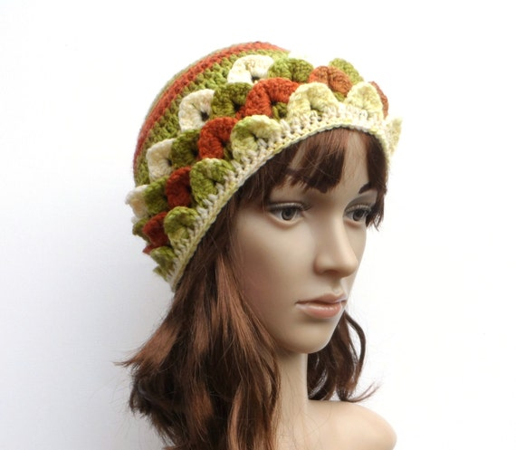 Crochet Nub Stitch : Crochet Crocodile Stitch Hat, Ladies Crochet Hat,Soft Dragon Scale Nub ...