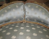 French Vanity Chair Painted with Carving