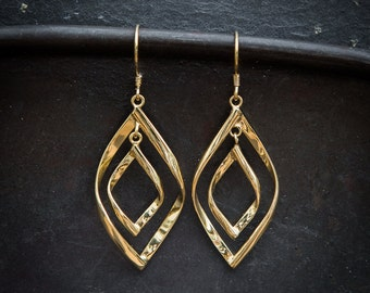 Gold Vermeil Double Twist Earrings