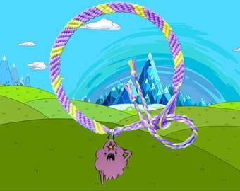 Adventure Time friendship bracelet with Lumpy Space Princess LSP charm Free UK Postage!