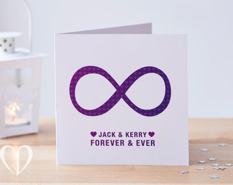 Personalised Anniversary Card, 8 Years Card, 8 Months Card or Anytime, 8th Anniversary Card, Anniversary Card, Love Card, Just Because Card