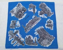 Vintage Collectible Souvenir Scarf from London
