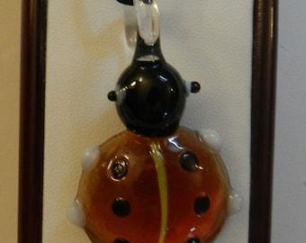 Murano Glass Style Lady Bug Pendant  V6