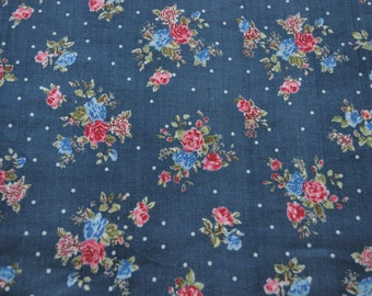 Top quality Floral print cotton High thread count fabric by yard