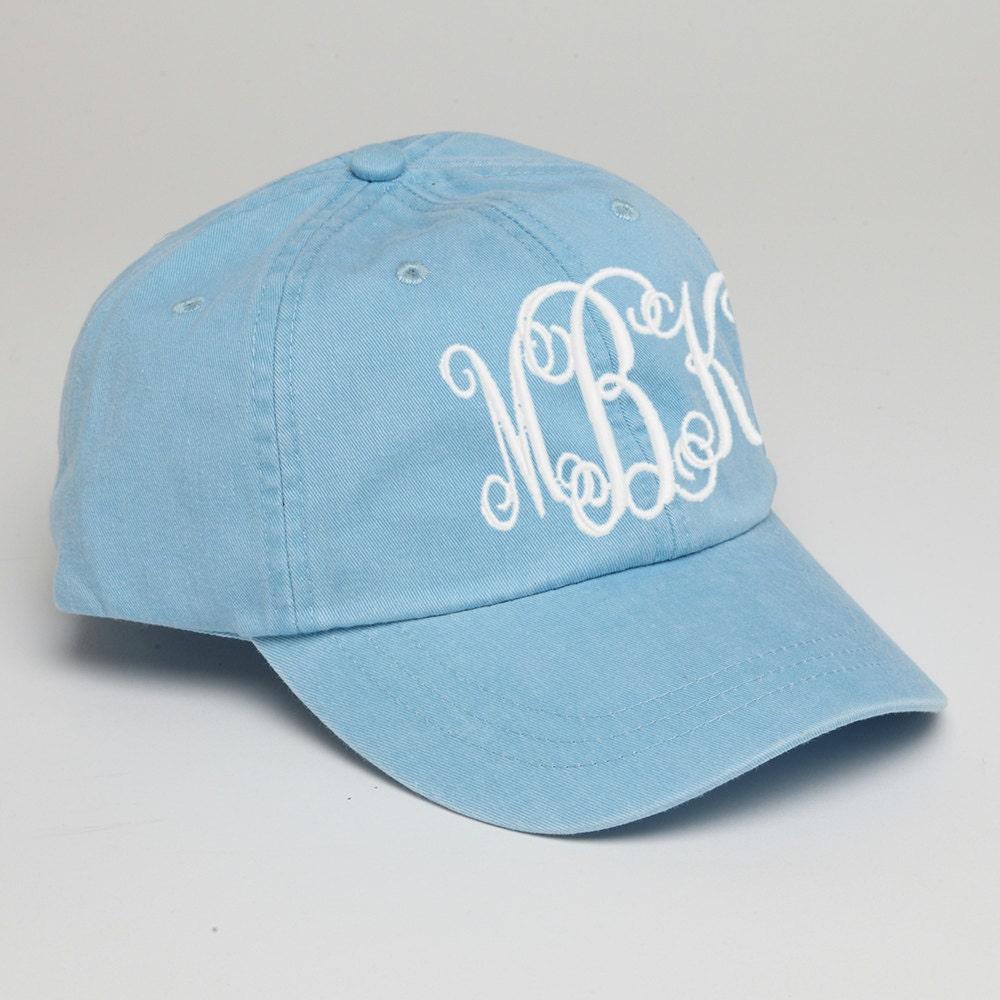 baby blue monogrammed baseball hat monogram baseball