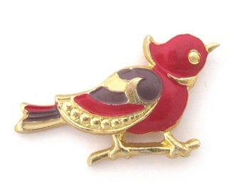 Bird, Vintage collectible badge, Soviet Pin, Animal, Brooch, Made in USSR
