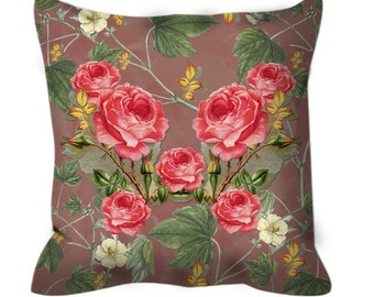 Vintage Roses Reflexion Cushion Cover Pillow