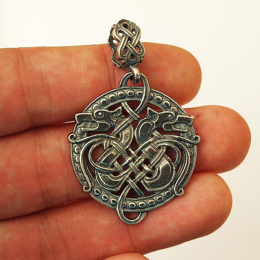 Wolf Charm Bracelet: Celtic Wolf Wolf Necklace Wolf Jewelry Wolf Pendant Celtic