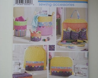 Sewing machine cover/ project bag /serger cover /bag organizer /sewing accessories/ Serger cover 2007 sewing pattern, Simplicity 3776
