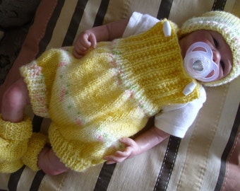 """To fit 16"""" Reborn Doll - Hand Knitted Dungarees Set"""