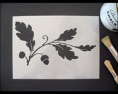 Oak Leaf & Acorn Reusable Stencil
