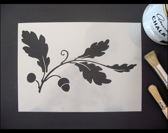 Oak Leaf & Acorn Reusable Stencil