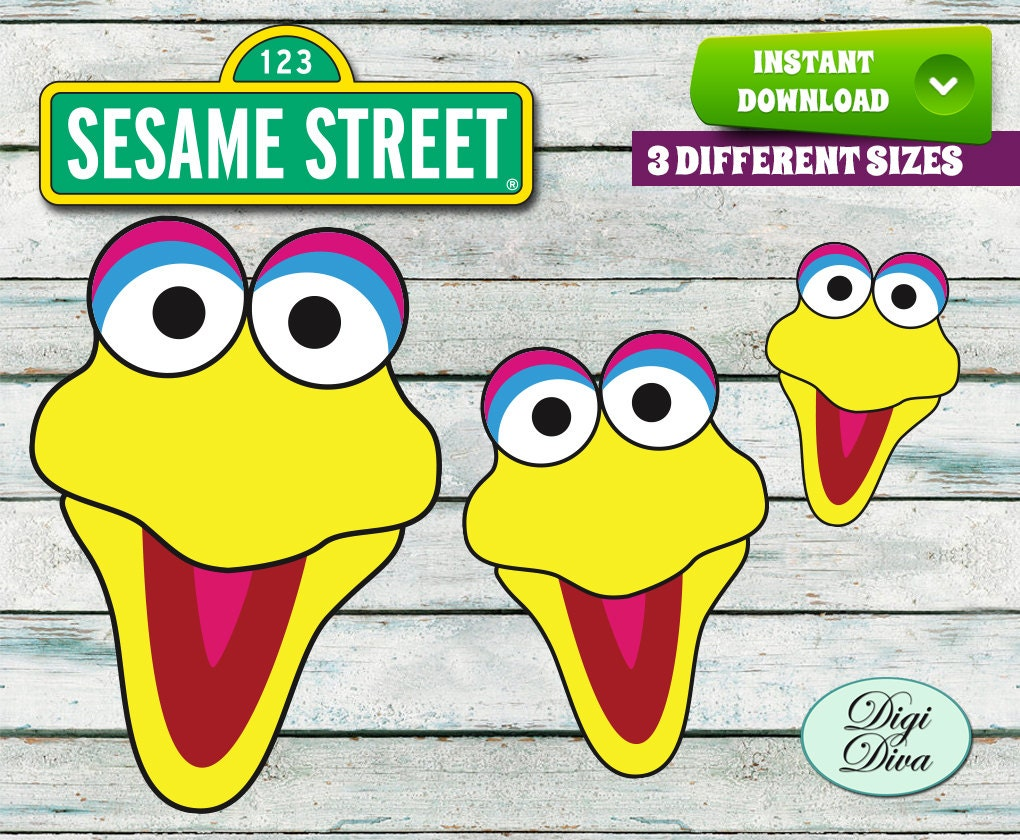 Image gallery of big bird face template pronofoot35fo Image collections