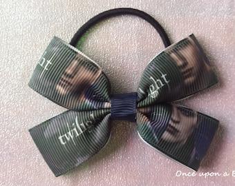 Hand made twilight movie hair bow