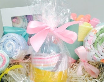 It's a Girl! Gift Basket | Baby Shower Gift | Onesie Cupcakes and Baby Bouquet