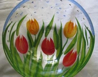 Salad Bowl Set, 6 Pieces, Colorful Glass, Gorgeous