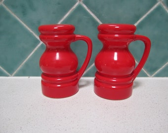 Retro Red Salt and Pepper Shakers - 1970