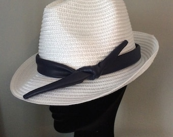 Summer straw trilby