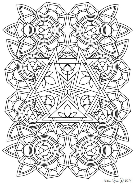 Mandala adult coloring page from zen out vol 1 by Zen coloring book for adults download